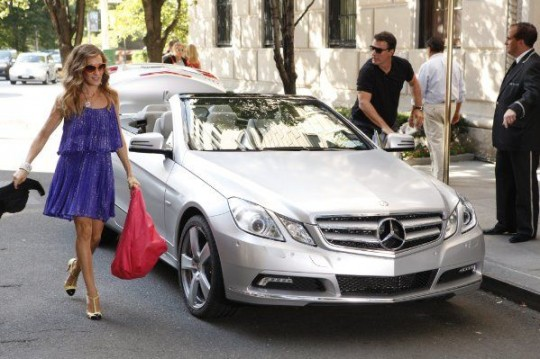 Mercedes E class cabrio Sex and the City 2