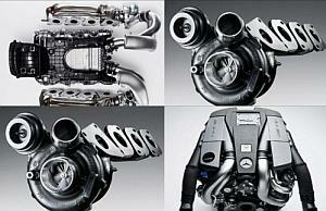 Mercedes AMG Twin-Turbo 5.5 Litre V8 Engine